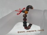 pb026 Natural Stone Power Bead Bracelet - Carnelian