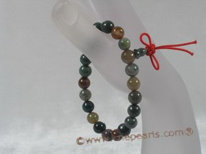pb029 wholesale Natural Stone Power Beads Elastic Bracelet-india onyx