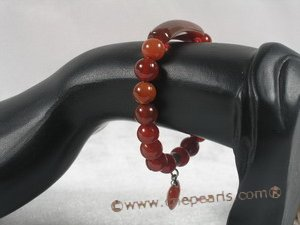 pb041 8mm round  Red Agate Elastic Power bracelet for wholesale