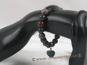 pb042 8mm round india agate Elastic Power bracelet in wholesale