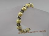 pbr019 extraordinary 8-9mm yellow potato pearls stretchy bracelets