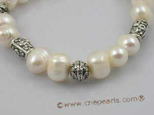 pbr020 extraordinary 8-9mm white potato pearls stretchy bracelets