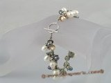 pbr053 handcrafted rice shape pearl dangle bracelet