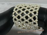 pbr110 Hand knotted stretchy pearl bracelets wholesale