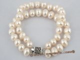 pbr165 Wholesale double row white potato pearl bracelet in factory price