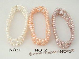 freshwater pearl elastic bracelet