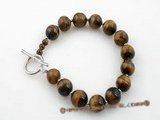 pbr241 10mm round tiger&#39s eye  gemstone  bracelet in wholesale