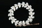 pbr360 Stretchy Freshwater Firecracker Pearl Bracelet 7.5 inch length