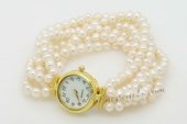 pbr463 Enchanting Six Rows Seed Pearl watch bracelet in wholesale
