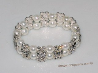 Pbr501 Stretch Mother Of S Pearl Bracelet Lovely Personalised Erfly Crystal Ing