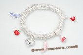 Pdbr008 Fancy Silver-tone Ring Stretch 