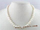 pn074 8-9mm potato fresh water pearl single necklace
