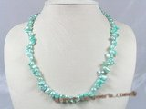 pn187 8*12mm blue wing pearl sing strand necklace
