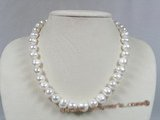 pn201 11-12mm white potato pearl luxury single necklace