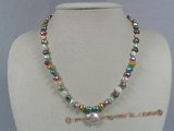 pn211 multi-color nugget freshwater pearl single necklace wholesale