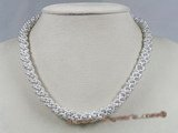 pn217 grey seed pearl pipe design choker necklace wholesale