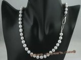 pn218 8-9mm grey potato pearl single necklace jewelry