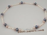 pn274 multicolor cultured freshwater pearl necklace factory price selling