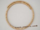 pn280 Stylish champagne cultured freshwater button pearl choker necklace on sale