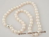 pn282 freshwater rounder potato pearl necklace factory price selling,8-9mm