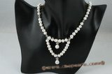 pn354 7-8mm freshwater potato Pearl Princess necklace in wholesale