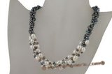 Pn373 Design style low quality baroque pearl discount necklace