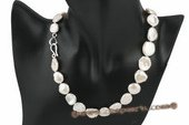 pn386 Hand knotted 13-16mm reborn pearl princess necklace