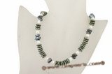 Pn392 Hand knotted coin pearl and potato pearl princess necklace