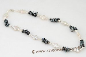 Smart white cross pearl and Black keshi pearl princess necklace pn396 Xmas Jewelry gift Cnepearls Ltd :  pearl necklaces
