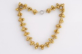 Pn558 Unusual Hand Knitted Freshwater Cultured Pearl Necklace