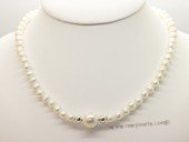 Pn596 Fantastic Cultured Pearl and Shell Pearl Princess Necklace