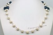 PN613 Hand Wire Cultured Pearl and Coral Princess Necklace