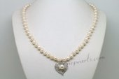 Pn615 Fancy Hand Strung Cultured Pearl Necklace with 925Silver Pendant
