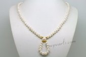 Pn616 Designer Freshwater Potato Pearl Princess Necklace
