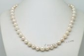Pn623 Hand Knotted Sterling Silver Cultured Potato Pearl Princess Necklace