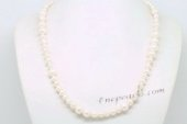 pn629 Hand Knotted White Cultured Pearl Princess Necklace