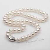 Pn651 Elegant 8-9mm Freshwater Bread Pearl Costume Necklace