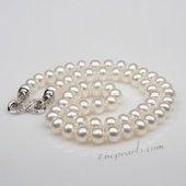 Pn652 Timeless White Freshwater Bread Pearl Costume Necklace