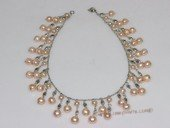pn681 Inspired Chain Cluster Pearl Chandelier Necklace Hot  Girls  Gift