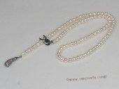 pn685 Fancy Hand Strung Cultured Pearl Necklace with cucumber pendant