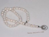 pn686 Big 10-11mm chunky pearl necklace with shinning clasp