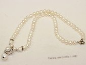 pn707 Freshwater Pearl Necklace with 6-7mm white potaoto Pearls