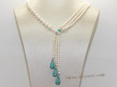 pn770 Designer White Freshwater Pearl Princess Necklace