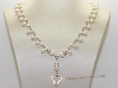 Pn772 White freshwater potato pearl jewelry chain necklace
