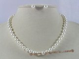 pnset141 6-7mm AAA grade round pearls necklace & earring set