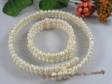pnset164 White bridal & wedding choker pearl necklace