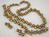 pnset215 Gorgeous brown freshwater dancing pearl jewelry set wholesale