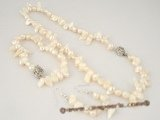pnset246 6-8mm white blister pearl hand knotted Jewelry set clearance price sale