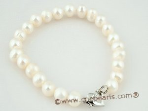 pnset261 charming 7-8mm freshwater potato pearl necklace set at wholesale price