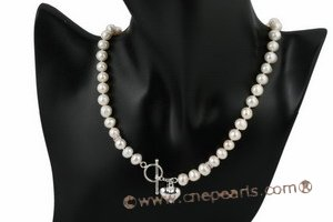 pnset475  Hand knotted freshwater potato pearl princess necklace